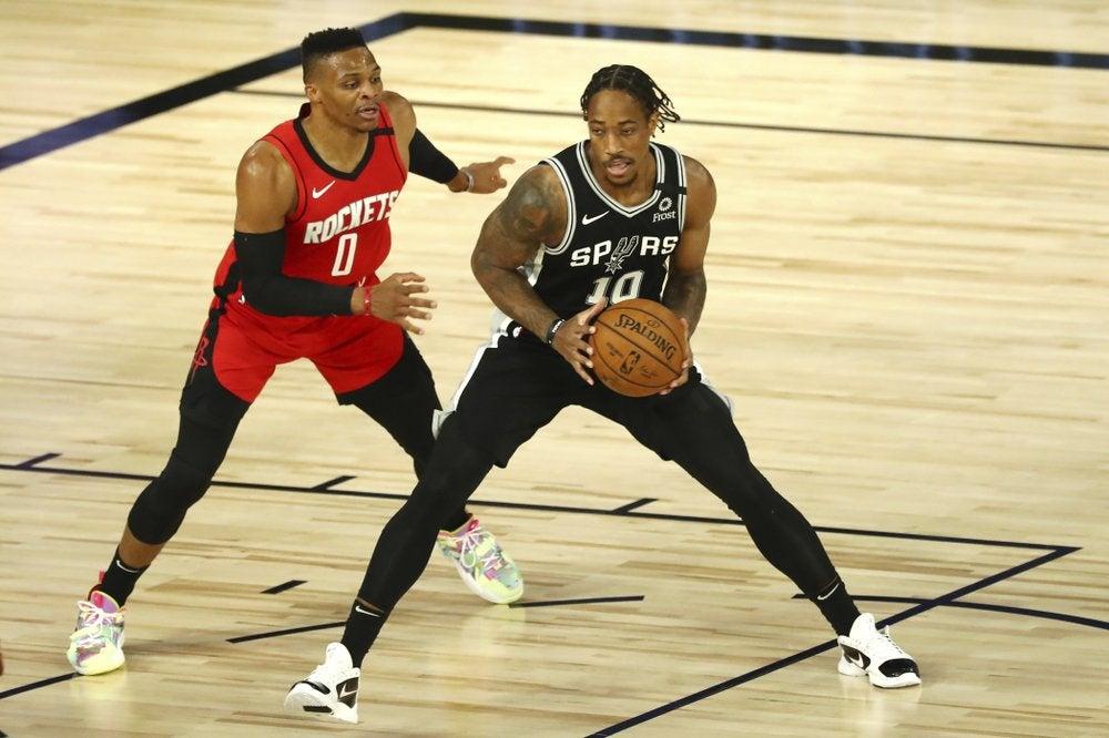 DeMar DeRozan Spurs Rockets NBA