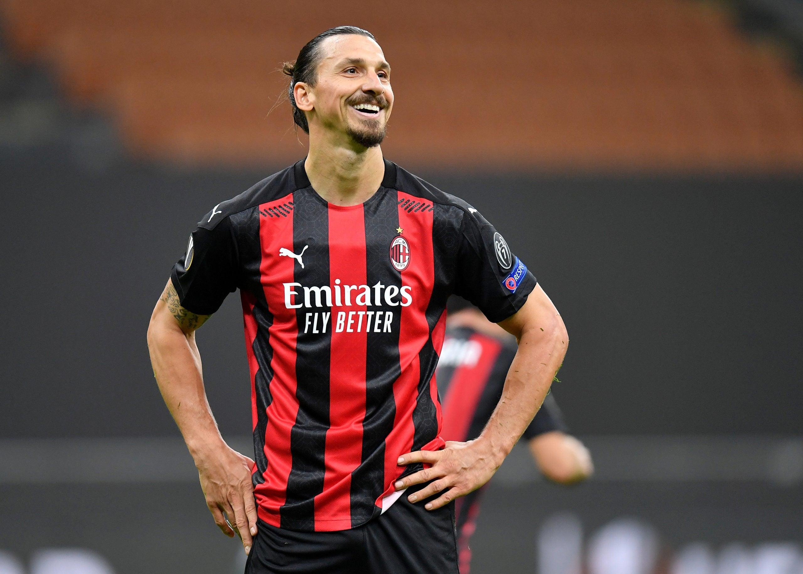 AC Milan forward Zlatan Ibrahimovic