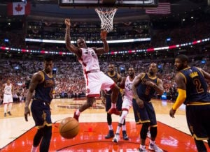 Physicality picks up between Cavaliers and Raptors
